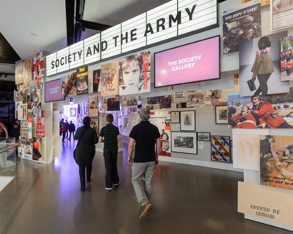 Visitors entering Society gallery