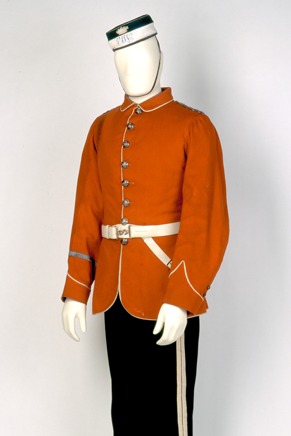 Uniform worn by Private W T Rowley, 1st Huntingdonshire Light Horse Volunteers, c1870