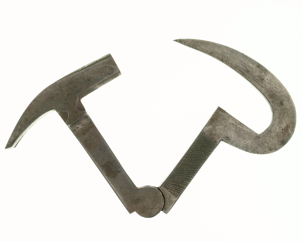 Hoof-pick and claw hammer used by an Army farrier, 1890
