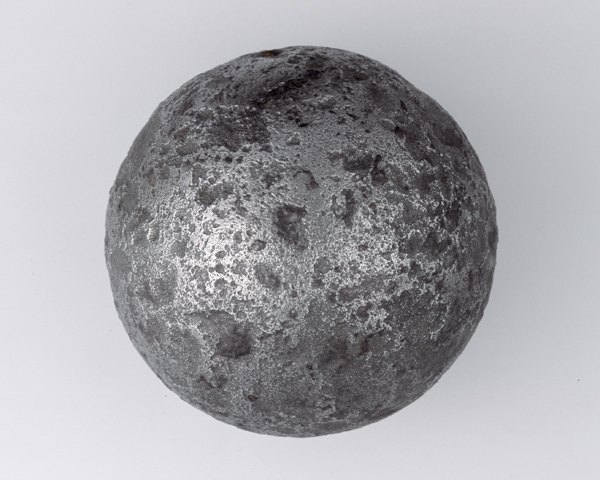 Cannon ball recovered from the battlefield of Blenheim, 1704