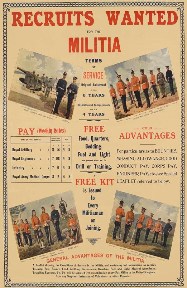 Militia recruiting poster, 1906