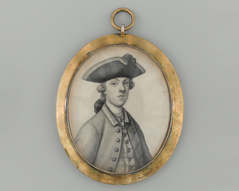 Miniature of Major James Wolfe, c1750