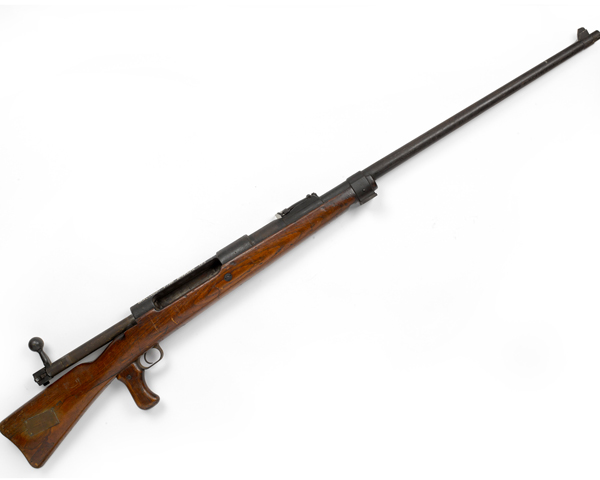 Mauser Tankgewehr M1918, the world's first anti-tank rifle. It could penetrate 22 mm of armour plate at 100 metres