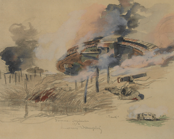Tanks on the Somme, September 1916