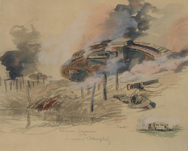 Tanks on the Somme, September 1916