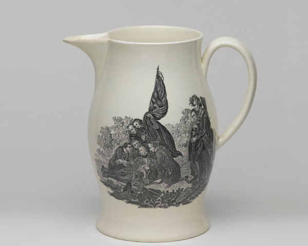 Jug commemorating Major-General James Wolfe, c1771