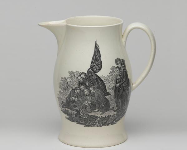 Jug commemorating Major-General James Wolfe, c1771