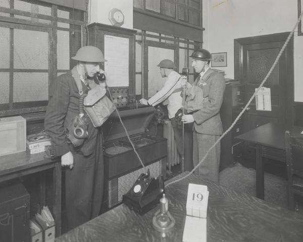 Home Guard personnel in a communication centre, 1943