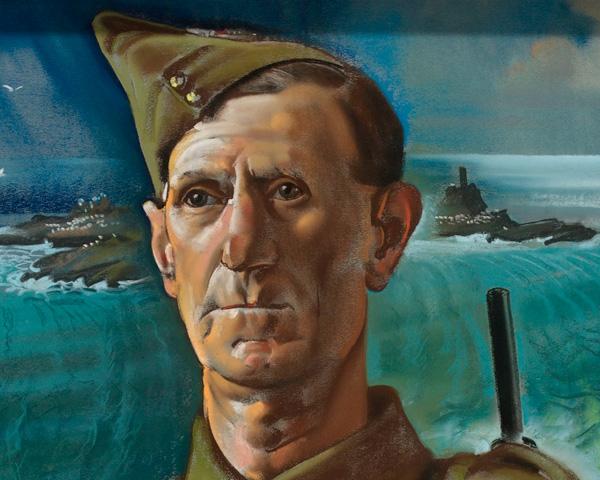 Sergeant Bluett, Cornwall Home Guard, by Eric Kennington, 1943