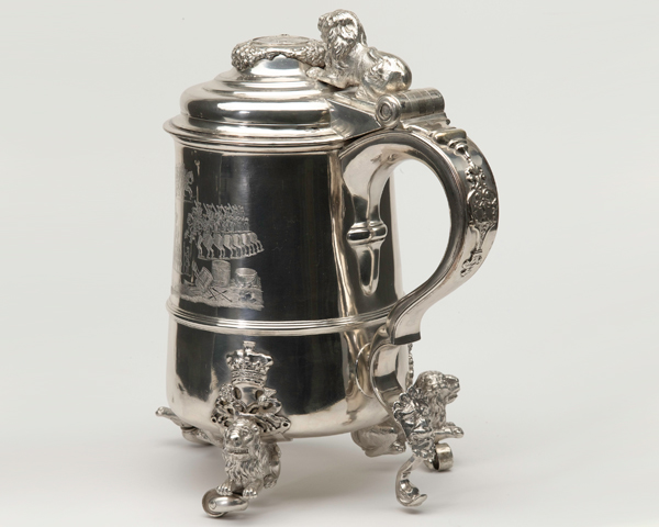 The silver Cumberland tankard was made to commemorate the Hanoverian victory, c1746