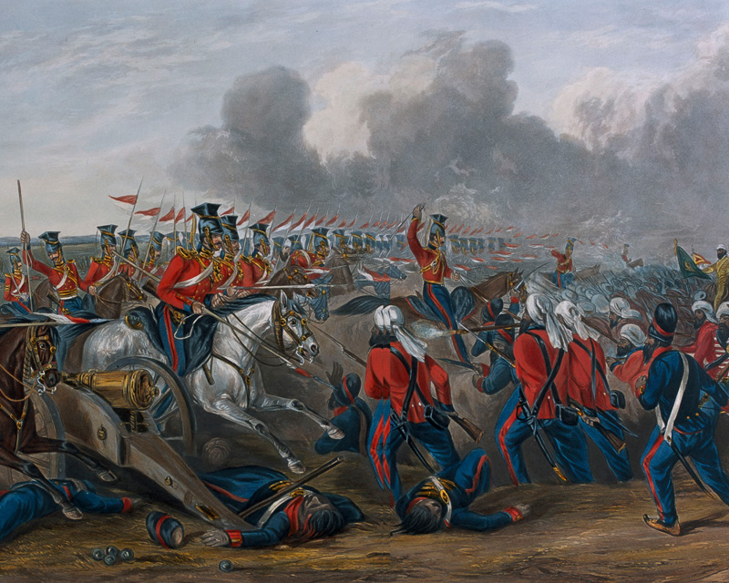 Charge of the 16th (Queens Own) Lancers at the Battle of Aliwal,