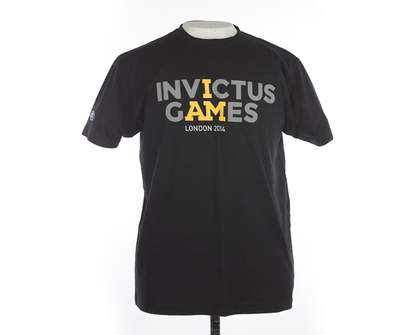T-shirt advertising the inaugural Invictus Games, 2014