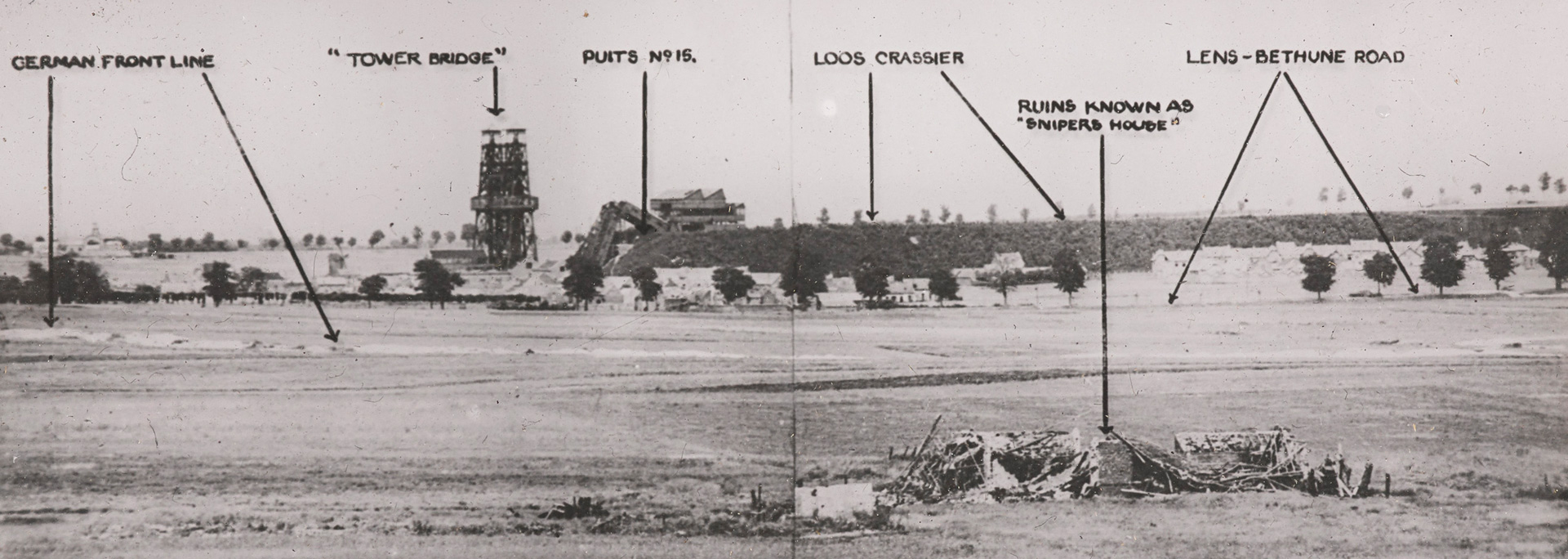 A panorama of a section of the Loos front taken on 30 September 1915