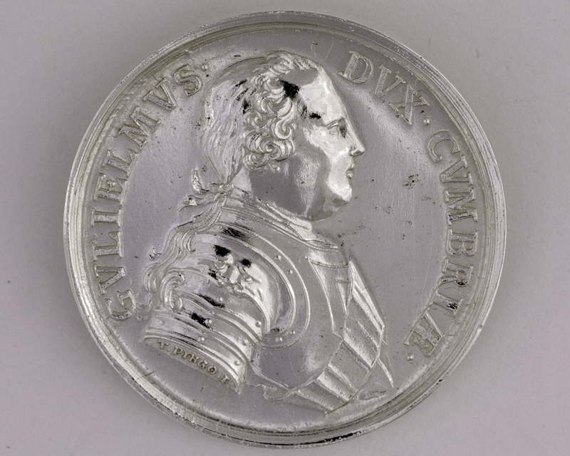 Silver medal commemorating the recapture of Carlisle following the Jacobite retreat, 1745