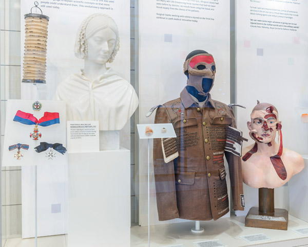Display showcasing military medical innovations
