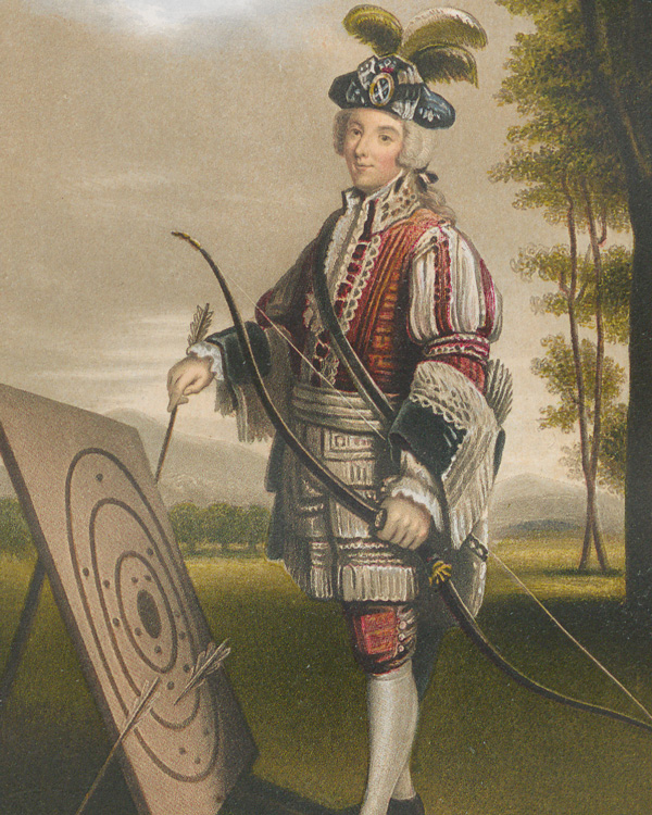 Lord Wemyss c1745, from James Balfour Paul's 'History of the Royal Company of Archers' (1875)