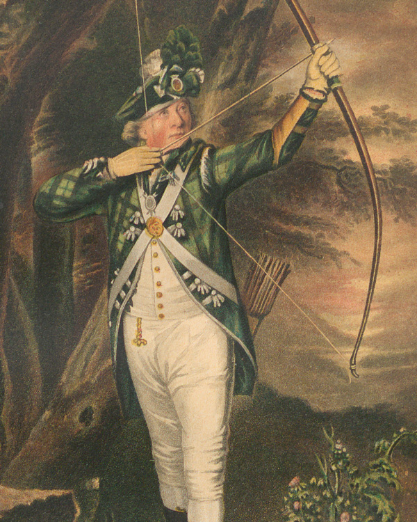 The uniform c1790, from James Balfour Paul's 'History of the Royal Company of Archers' (1875)