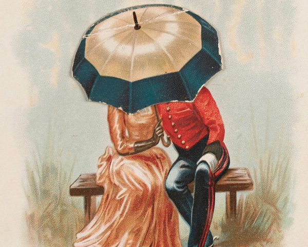 A soldier with his sweetheart, c1890