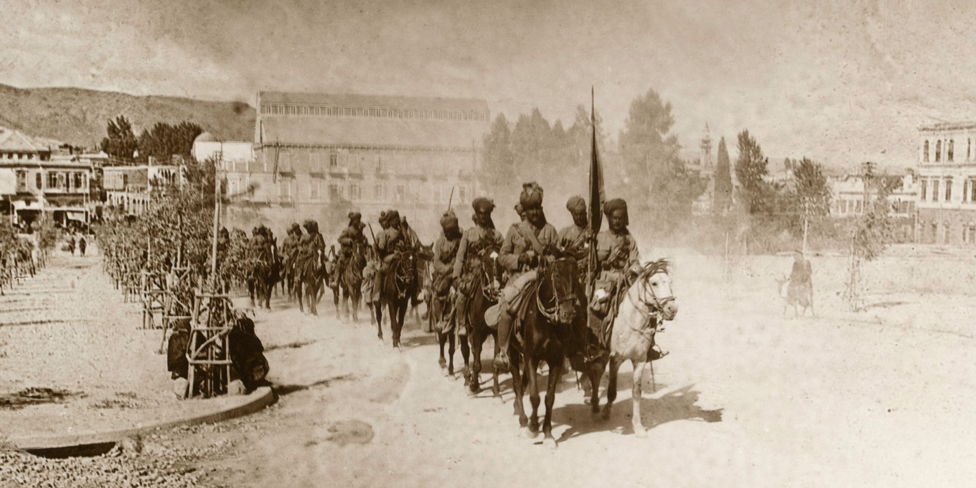 9th Hodson's Horse march through Damascus, 2 October 1918