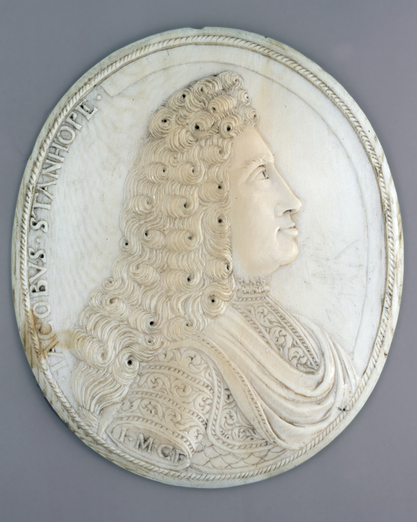 Ivory cameo of Earl James Stanhope, Commander-in-Chief of the British forces in Spain, 1708