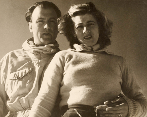 Valerie and Anthony in Mallnitz, Austria, c1947