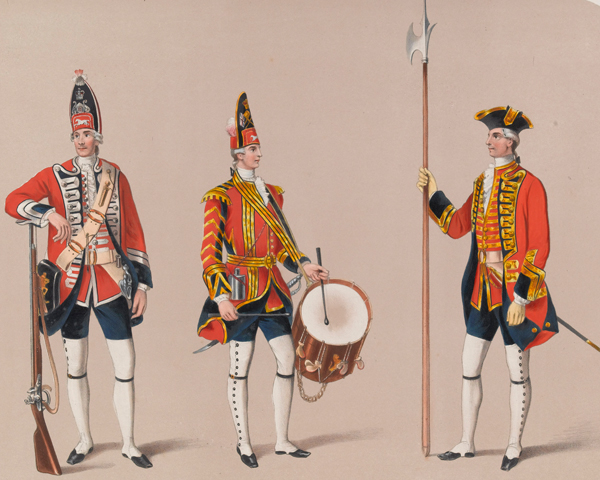 Soldiers of the 1st Regiment of Foot Guards, 1745