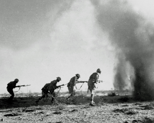 British infantry advance at El Alamein, 1942
