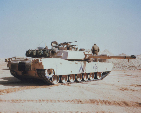 American M1 Abrams main battle tank, 1991
