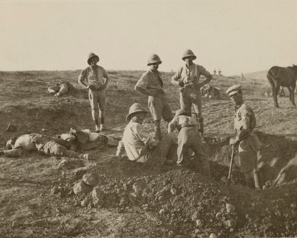 British soldiers burying Turkish dead near Beersheba, November 1917