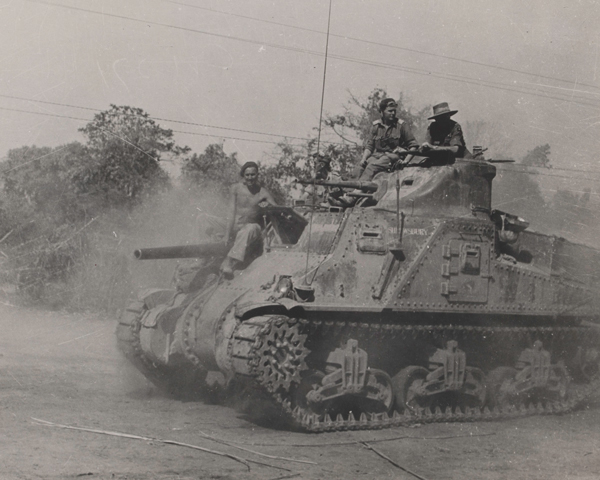 An M3 medium General Lee tank of the 25th Dragoons at Kohima, June 1944