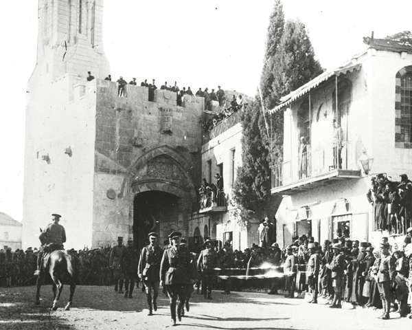 General Sir Edmund Allenby receiving the notables of Jerusalem, 11 December 1917