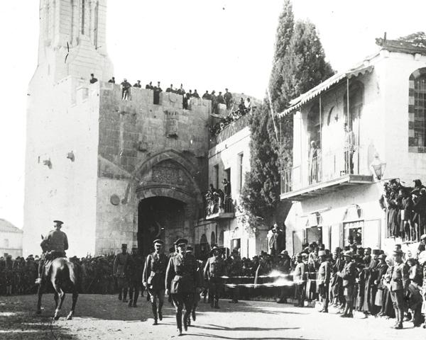 General Sir Edmund Allenby receiving the notables of Jerusalem, 11 December 1917