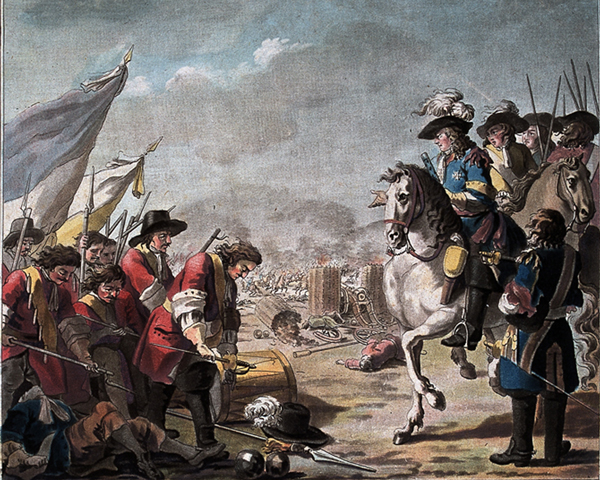 The surrender of Lord Galway and Marques das Minas to the Duke of Berwick, 1707