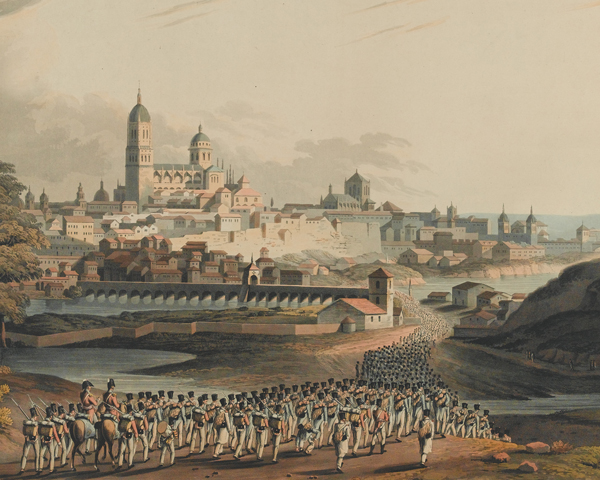 Marching the French prisoners into Salamanca after the battle 1812