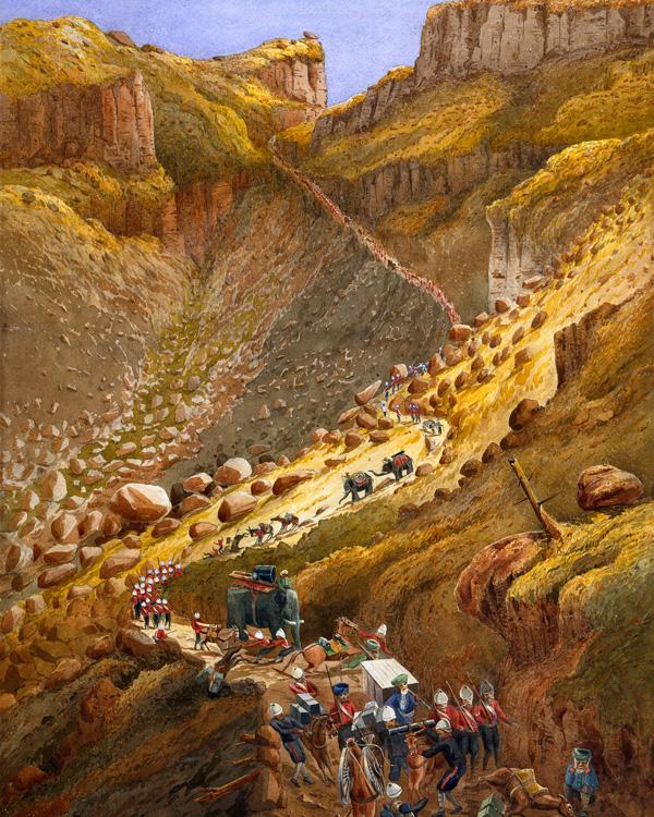 The Chetta Ravine, Abyssinia, 1868
