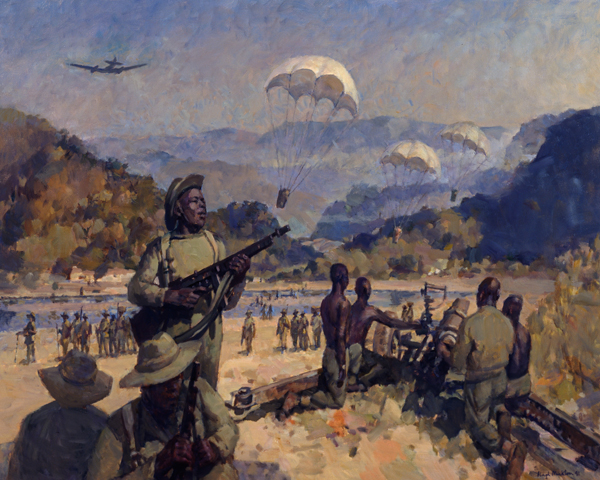Air supply to 81st West African Division in the Arakan, 1944