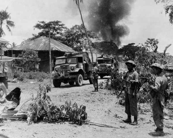17th Indian Division in Payagyi during the advance on Rangoon, 1945