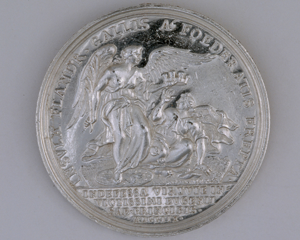Silver medal commemorating the capture of Lille, 1708