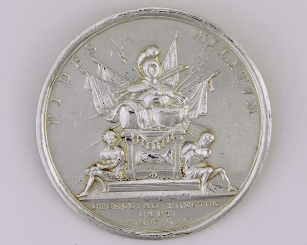 Silver medal commemorating the capture of Preston, 1715