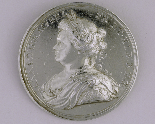 Silver medal commemorating the Peace of Utrecht, 1713