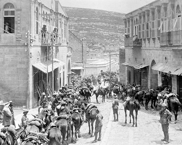 British Yeomanry and Australian Light Horse at Es Salt, 1918