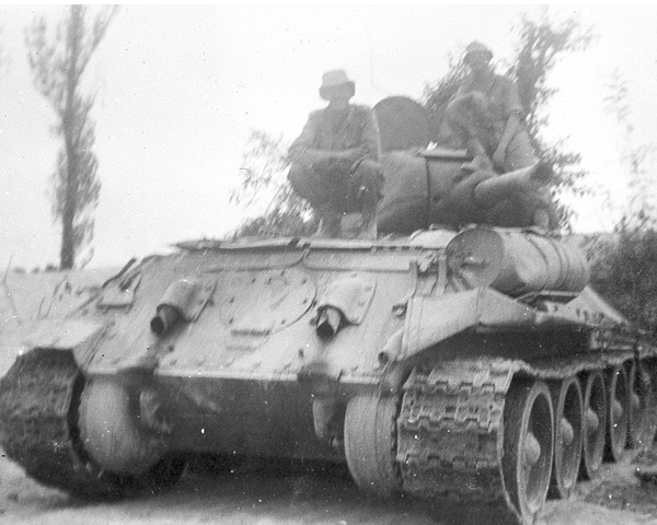 A captured Soviet-made T34, Korea, 1950