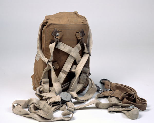 Type X Mk II Parachute pack of the type used by British paratroops at Arnhem, c1944