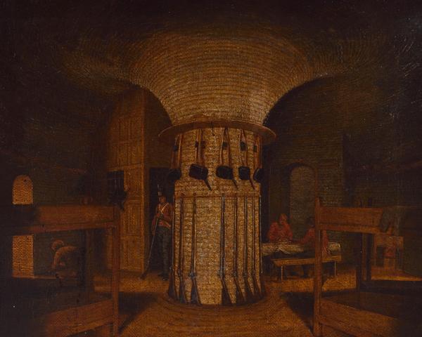 The interior of a Martello Tower, c1812