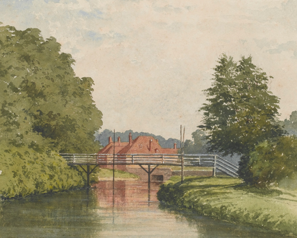 The Royal Military Canal at Hythe, 1820s