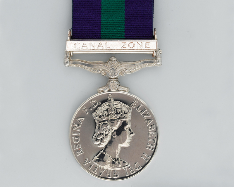 General Service Medal 1918-62 with Canal Zone clasp awarded to Sergeant J Pringle, Royal Army Educational Corps
