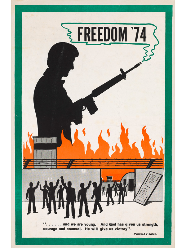 'Freedom '74', Irish Republican Army propaganda poster, 1974