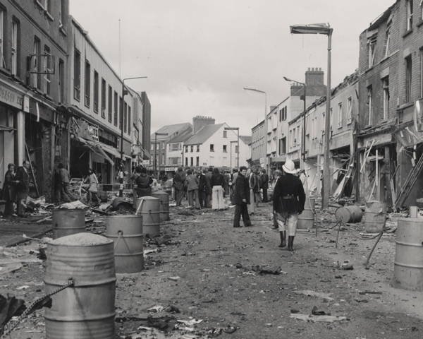 The aftermath of a terrorist bombing, 1972