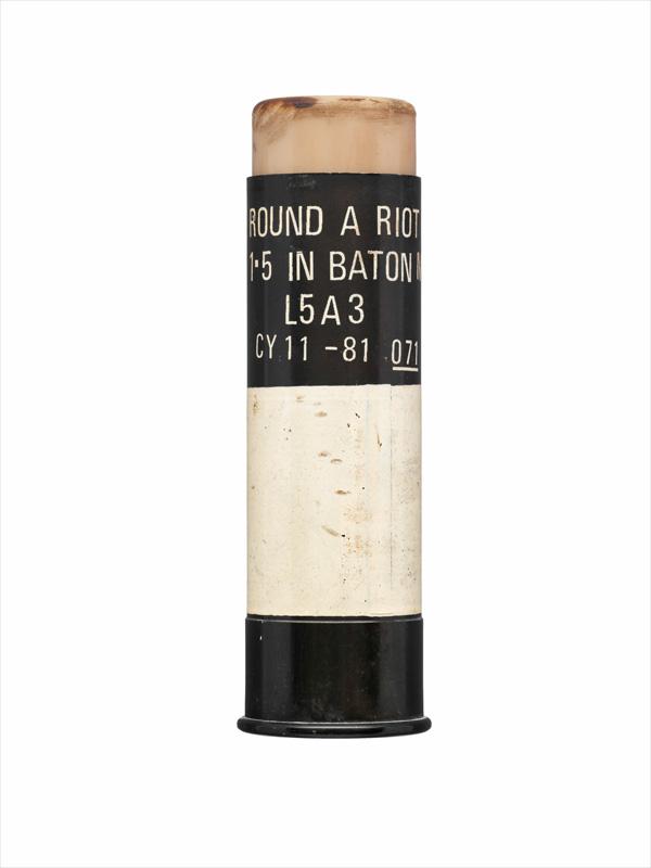 Rubber 1.5 inch bullet, 1981