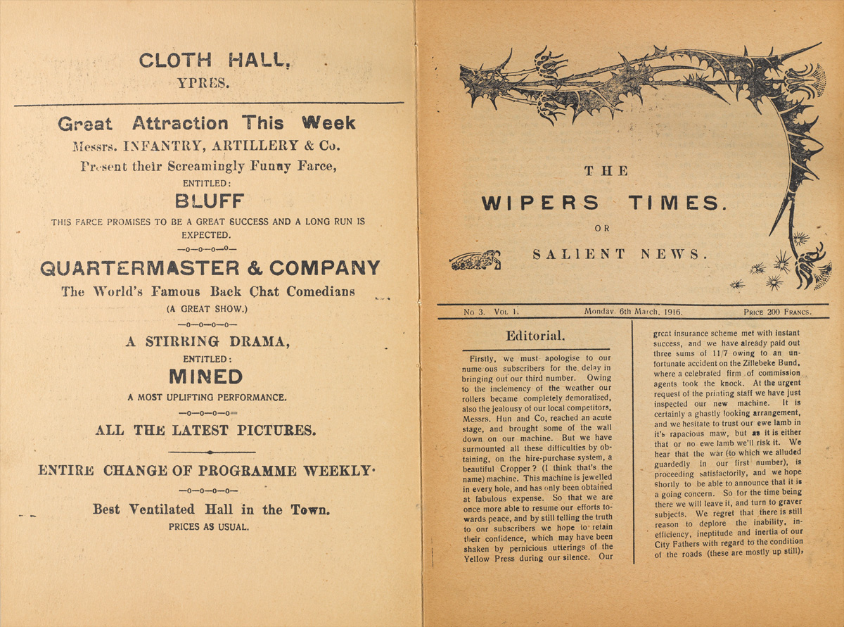 'The Wipers Times', 6 March 1916